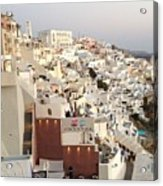 Evening At Santorini Acrylic Print