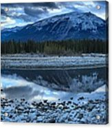 Evening At The Athabasca River Acrylic Print