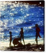 Evening At The Beach Acrylic Print by Stephen Anderson