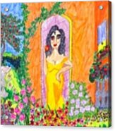 Evening At The Girl Cave Acrylic Print