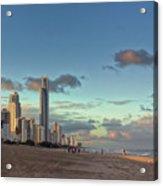 Evening At The Gold Coast Acrylic Print