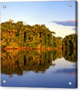 Evening By Garzacocha Lake Acrylic Print