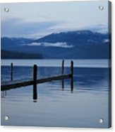 Tranquil Blue Priest Lake Acrylic Print