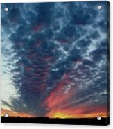 Evening Sky In Kansas Acrylic Print
