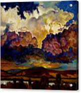 Evening Clouds Over The Valley Acrylic Print