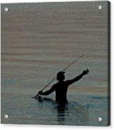 Evening Fisherman Acrylic Print
