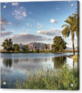 Evening Fishing Acrylic Print