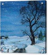 Evening Flurries Acrylic Print