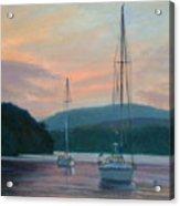 Evening Glow Hudson River Acrylic Print