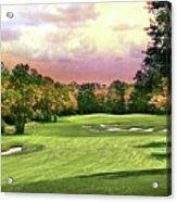 Evening Golf Course Scene Acrylic Print