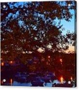 Evening Harbor Lights Acrylic Print