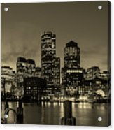 Evening In Boston Acrylic Print