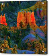 Evening In Bryce Canyon Acrylic Print