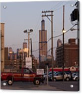 Evening In Chicago Acrylic Print