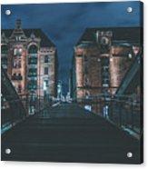 Evening In Hamburg Acrylic Print