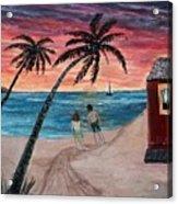 Evening In Paradise Acrylic Print