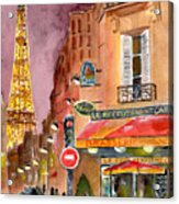 Evening In Paris Acrylic Print