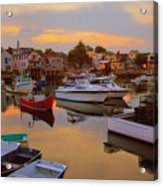 Evening In Rockport Acrylic Print