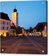 Evening In Sibiu's Grand Square Acrylic Print