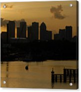 Evening In Tampa Acrylic Print