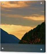 Evening Light At Lake Crescent Acrylic Print