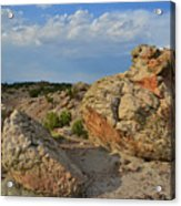Evening Light On Boulders Of Bentonite Site Acrylic Print