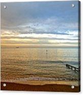 Evening Light On Shanklin Beach Acrylic Print