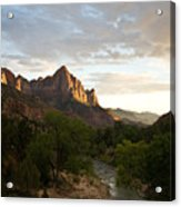 Evening Light On Watchman Acrylic Print