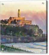 Evening Mood In Jaffa Acrylic Print