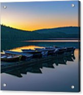 Evening On Lake Mcdonald Acrylic Print