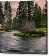 Evening On The Metolius Acrylic Print