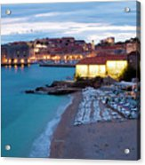 Evening Over Dubrovnik Acrylic Print