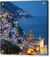 Evening Over Positano Acrylic Print