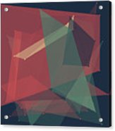 Evening Polygon Pattern Acrylic Print