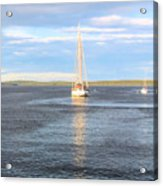 Evening Sail In Frenchman's Bay Acrylic Print