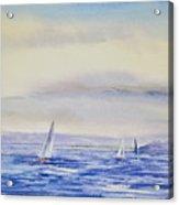 Evening Sail On Little Narragansett Bay Acrylic Print