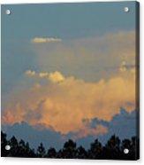 Evening Sky In Rural Florida Acrylic Print