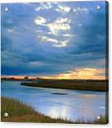 Evening Sky Over Hatches Harbor, Provincetown Acrylic Print