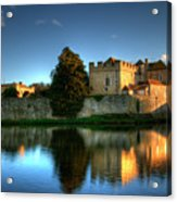 Evening Sun At Leeds Castle Acrylic Print