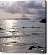 Evening The Isle Of Eigg  Inner Hebrides From The Beach At Arisaig Scotland Acrylic Print