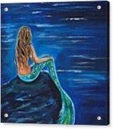 Evening Tide Mermaid Acrylic Print