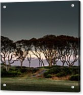 Dusk At Fort Fisher Acrylic Print