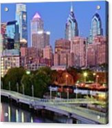 Evening Walk In Philly Acrylic Print