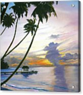 Eventide Tobago Acrylic Print by Karin  Dawn Kelshall- Best