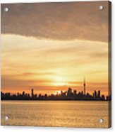 Every Morning Is Different - Toronto First Sunrays In Cyber Yellow  Acrylic Print