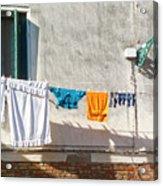 Everyday Life In Venice Acrylic Print