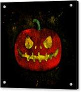 Evil Halloween Pumpkin Acrylic Print