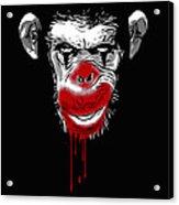 Evil Monkey Clown Acrylic Print