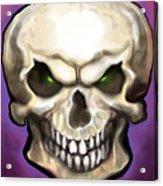 Evil Skull Acrylic Print