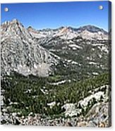 Evolution Lake And Valley Panorama From Darwin Bench - Sierra Acrylic Print